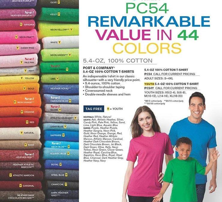 Endless T-Shirt Colors!