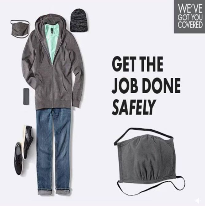 Get the Job Safely Done! Masks and Face Coverings Available Now!